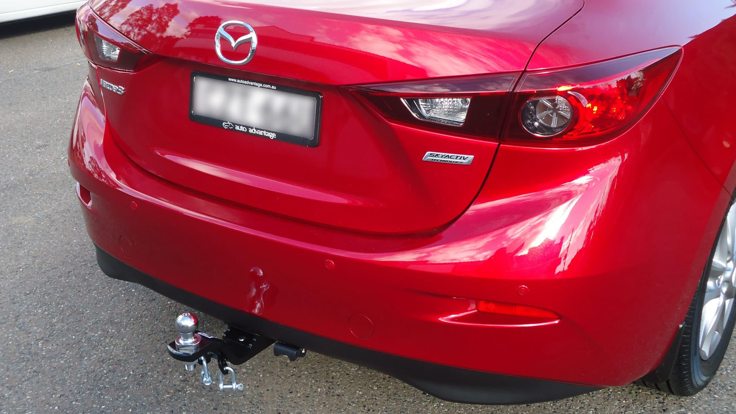 Install Closeup Of Mazda 3 Sedan
