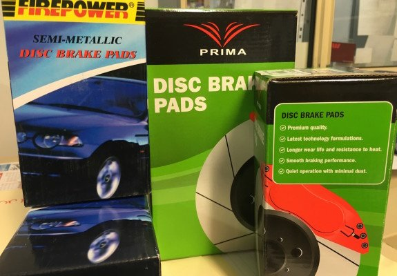firepower and prima brake pads