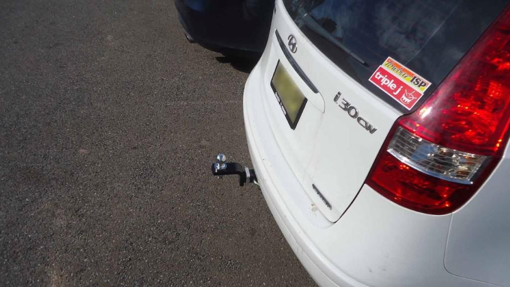 Install closeup of Hyundai I30