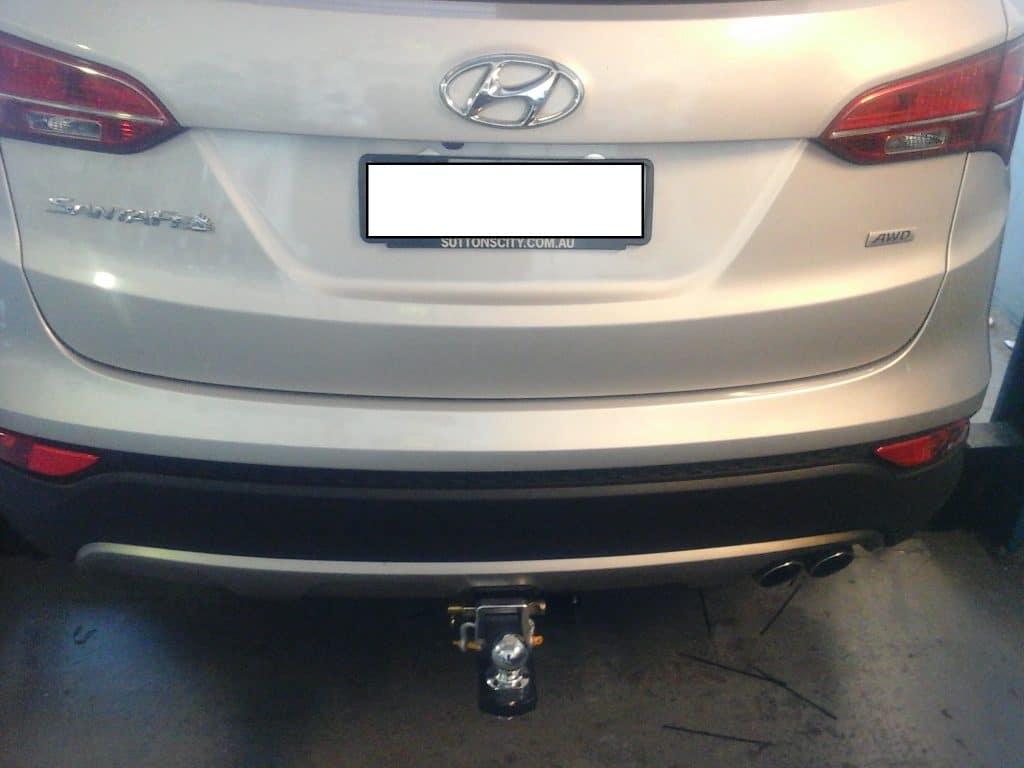 Install closeup of Hyundai Santa Fe