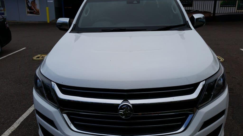 Install closeup of Holden Colorado