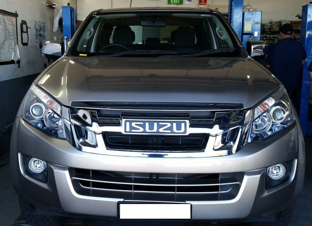 Install closeup of Isuzu D-MAX